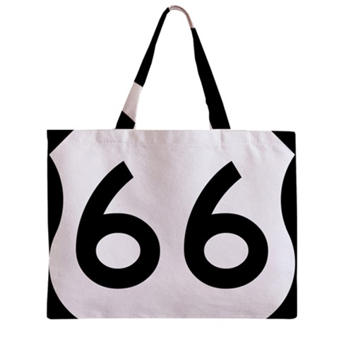 U.S. Route 66 Zipper Mini Tote Bag