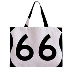 U.S. Route 66 Zipper Mini Tote Bag