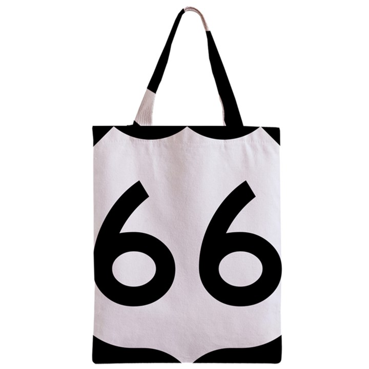 U.S. Route 66 Zipper Classic Tote Bag