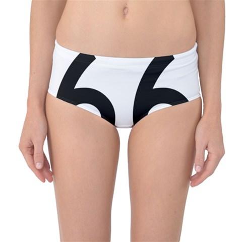 U.S. Route 66 Mid-Waist Bikini Bottoms