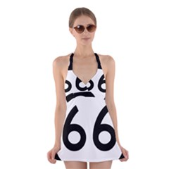 U S  Route 66 Halter Swimsuit Dress