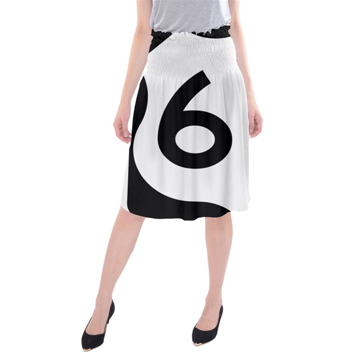 U.S. Route 66 Midi Beach Skirt