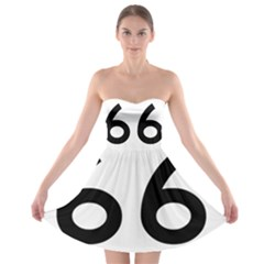 U S  Route 66 Strapless Bra Top Dress