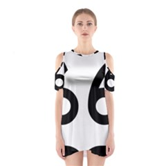 U.S. Route 66 Cutout Shoulder Dress