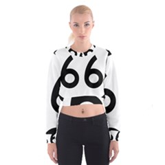 U.S. Route 66 Women s Cropped Sweatshirt