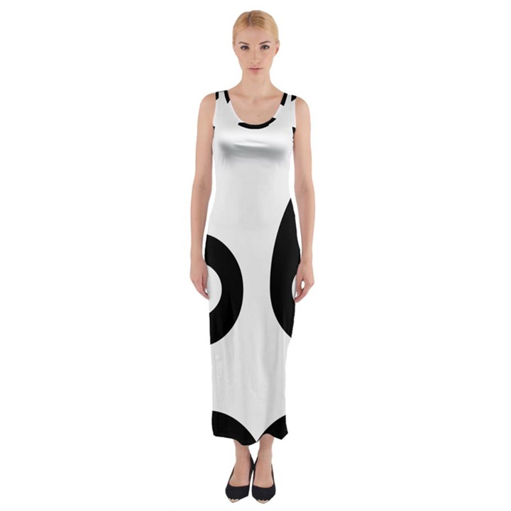 U.S. Route 66 Fitted Maxi Dress