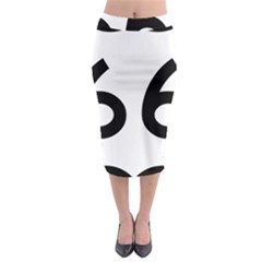 U.S. Route 66 Midi Pencil Skirt