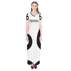 U.S. Route 66 Short Sleeve Maxi Dress