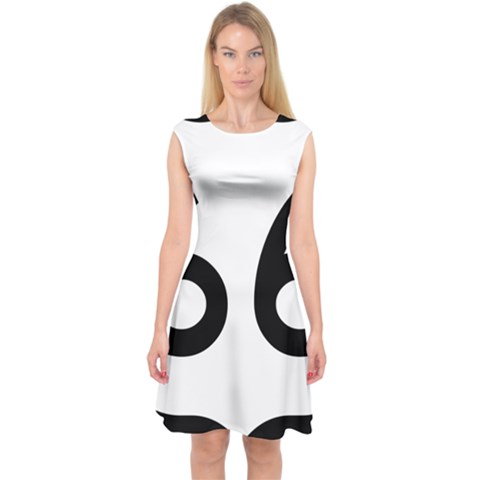 U.S. Route 66 Capsleeve Midi Dress