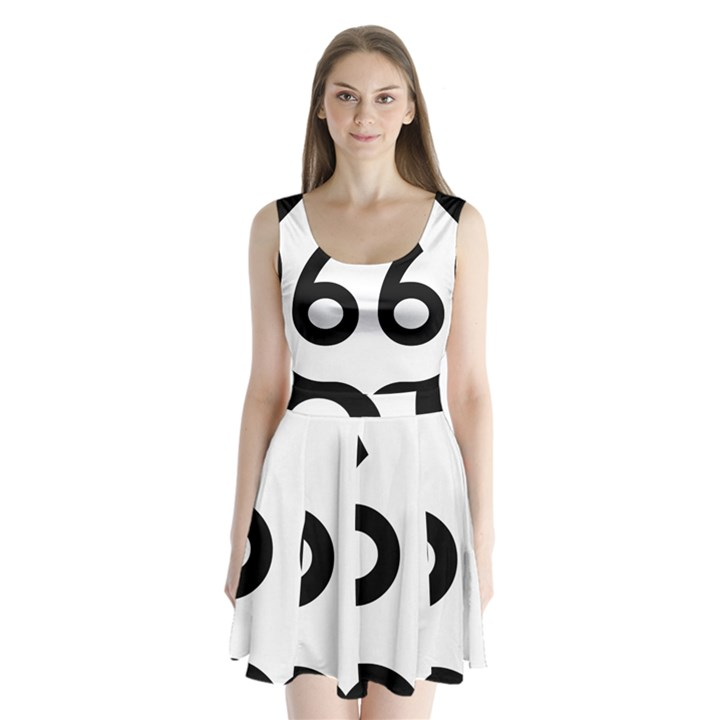 U.S. Route 66 Split Back Mini Dress