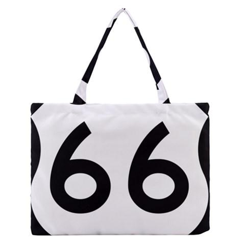 U.S. Route 66 Medium Zipper Tote Bag