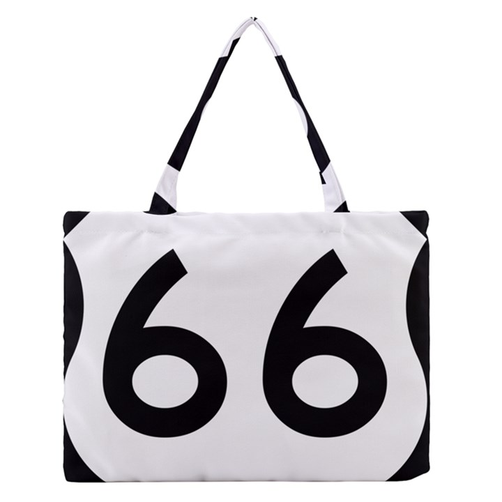 U.S. Route 66 Medium Zipper Tote Bag