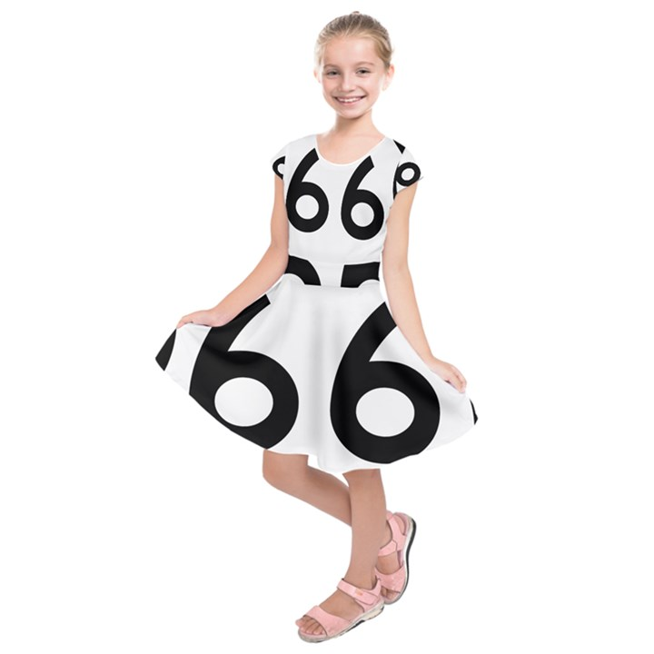 U.S. Route 66 Kids  Short Sleeve Dress