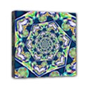 Power Spiral Polygon Blue Green White Mini Canvas 6  x 6  View1