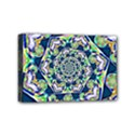 Power Spiral Polygon Blue Green White Mini Canvas 6  x 4  View1