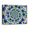 Power Spiral Polygon Blue Green White Canvas 16  x 12  View1
