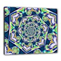 Power Spiral Polygon Blue Green White Canvas 24  x 20  View1