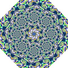 Power Spiral Polygon Blue Green White Folding Umbrellas