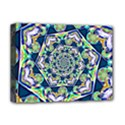 Power Spiral Polygon Blue Green White Deluxe Canvas 16  x 12   View1