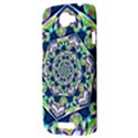 Power Spiral Polygon Blue Green White HTC One S Hardshell Case  View3