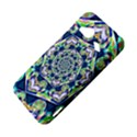 Power Spiral Polygon Blue Green White HTC Droid Incredible 4G LTE Hardshell Case View4
