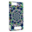 Power Spiral Polygon Blue Green White Motorola DROID X2 View2