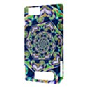 Power Spiral Polygon Blue Green White Motorola DROID X2 View3