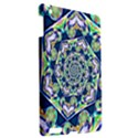 Power Spiral Polygon Blue Green White Apple iPad 3/4 Hardshell Case View2