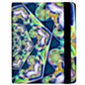 Power Spiral Polygon Blue Green White Apple iPad 2 Flip Case View2
