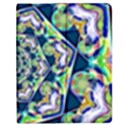 Power Spiral Polygon Blue Green White Apple iPad 3/4 Flip Case View1