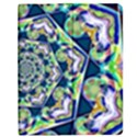 Power Spiral Polygon Blue Green White Apple iPad Mini Flip Case View1
