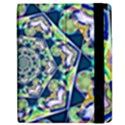 Power Spiral Polygon Blue Green White Apple iPad Mini Flip Case View2