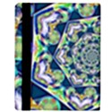 Power Spiral Polygon Blue Green White Apple iPad Mini Flip Case View3