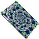 Power Spiral Polygon Blue Green White Apple iPad Mini Hardshell Case View5