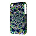 Power Spiral Polygon Blue Green White Apple iPhone 3G/3GS Hardshell Case (PC+Silicone) View3