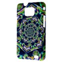 Power Spiral Polygon Blue Green White Samsung Galaxy S II i9100 Hardshell Case (PC+Silicone) View3