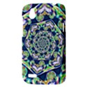 Power Spiral Polygon Blue Green White HTC Desire V (T328W) Hardshell Case View3