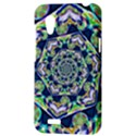 Power Spiral Polygon Blue Green White HTC Desire VT (T328T) Hardshell Case View3
