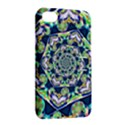 Power Spiral Polygon Blue Green White Apple iPhone 4/4S Hardshell Case with Stand View2