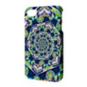 Power Spiral Polygon Blue Green White Apple iPhone 4/4S Hardshell Case with Stand View3