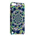 Power Spiral Polygon Blue Green White Apple iPod Touch 5 Hardshell Case with Stand View2