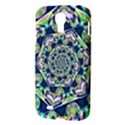 Power Spiral Polygon Blue Green White Samsung Galaxy S4 I9500/I9505 Hardshell Case View3