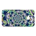 Power Spiral Polygon Blue Green White HTC One M7 Hardshell Case View1