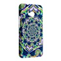 Power Spiral Polygon Blue Green White HTC One M7 Hardshell Case View2