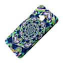 Power Spiral Polygon Blue Green White HTC One M7 Hardshell Case View4
