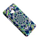 Power Spiral Polygon Blue Green White HTC One M7 Hardshell Case View5