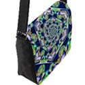 Power Spiral Polygon Blue Green White Flap Messenger Bag (L)  View2