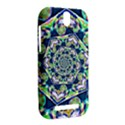 Power Spiral Polygon Blue Green White HTC One SV Hardshell Case View2