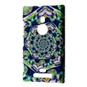 Power Spiral Polygon Blue Green White Nokia Lumia 925 View3