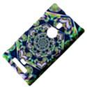 Power Spiral Polygon Blue Green White Nokia Lumia 925 View4